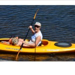 Joan in Kayak