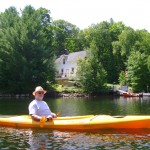 JRL in kayak by Govt HOuse