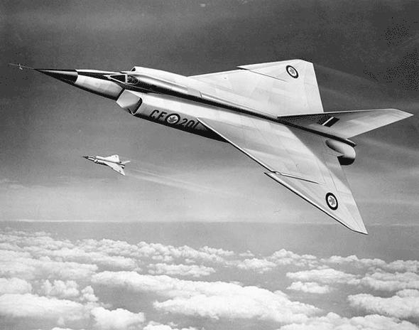 drawing of Avro Arrow