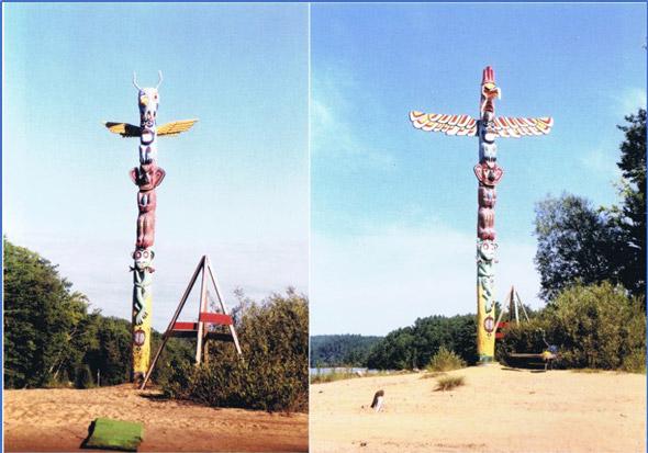 Two totem poles