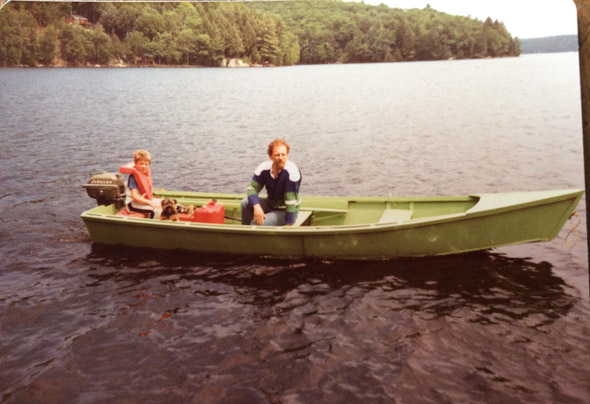 Man and boy in boat