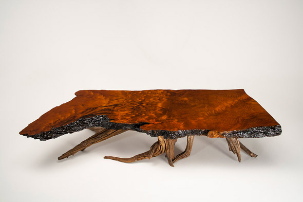 Driftwood table, polished